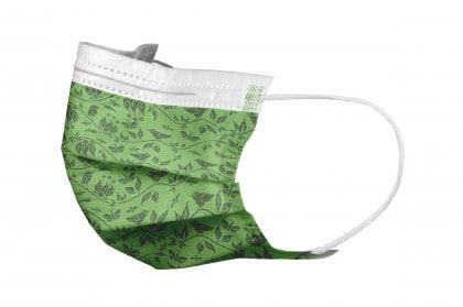 Akzenta Top Mask Paradise Edition Fresh Green folded